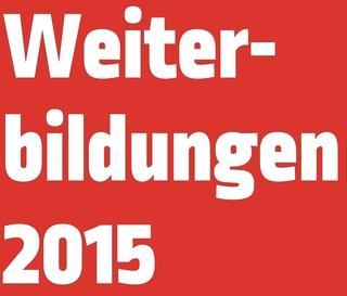 """Bilddatei mit Inschrift """"Weiterbildungen 2015"""""""