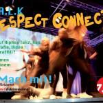 """Vorderseite des Werbeflyers zu TALK """"Respect connects!"""""""