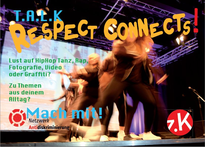 "Vorderseite des Werbeflyers zu TALK ""Respect connects!"""
