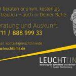 Flyerausschnitt von LEUCHTLINIE, Unterstützung für Opfer rechter Gewalt