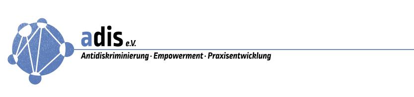 neues logo mit dem neuen Vereinsnamen adis e.V.