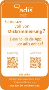 Flyer adis online Messenger vorne