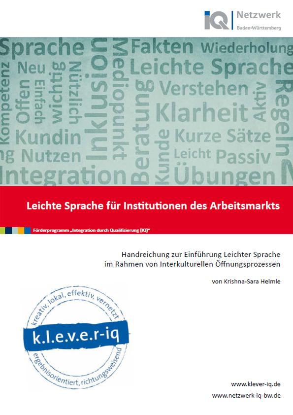 Handreichung zur Einführung Leichter Sprache im Rahmen von Interkulturellen Öffnungsprozessen