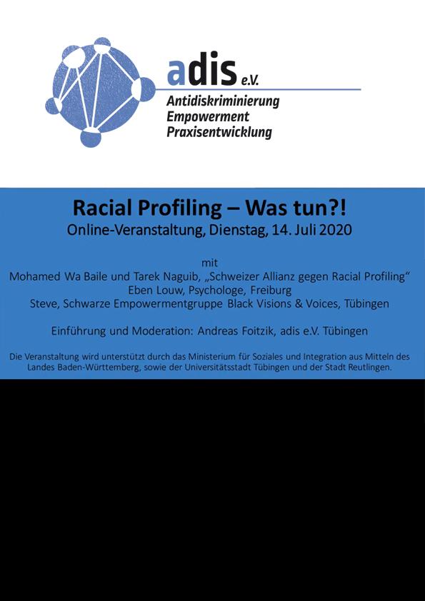 Racial Profiling – Was tun?!