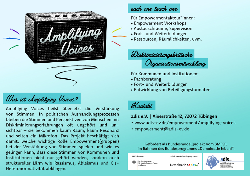 Flyer Amplifying Voices